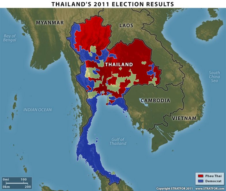 Regional Political Divisions in Thailand