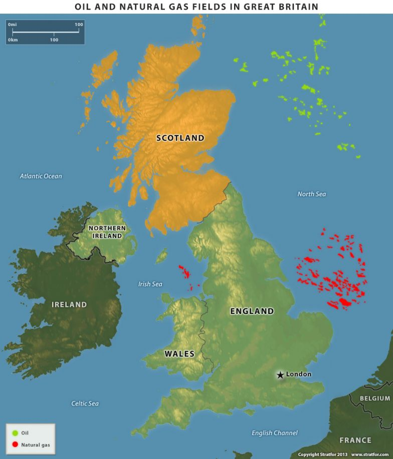 Oil and Natural Gas Fields in Great Britain
