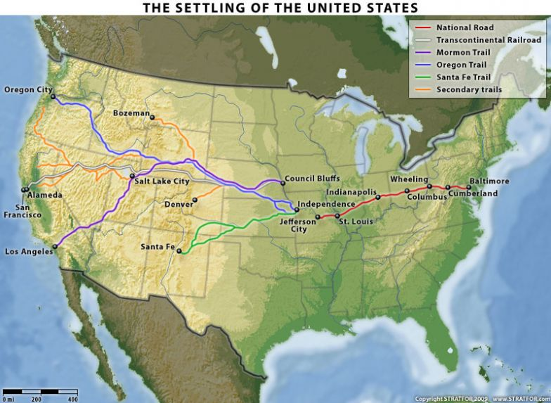 Routes For US Territorial Expansion Stratfor Worldview - Us map territorial expansion