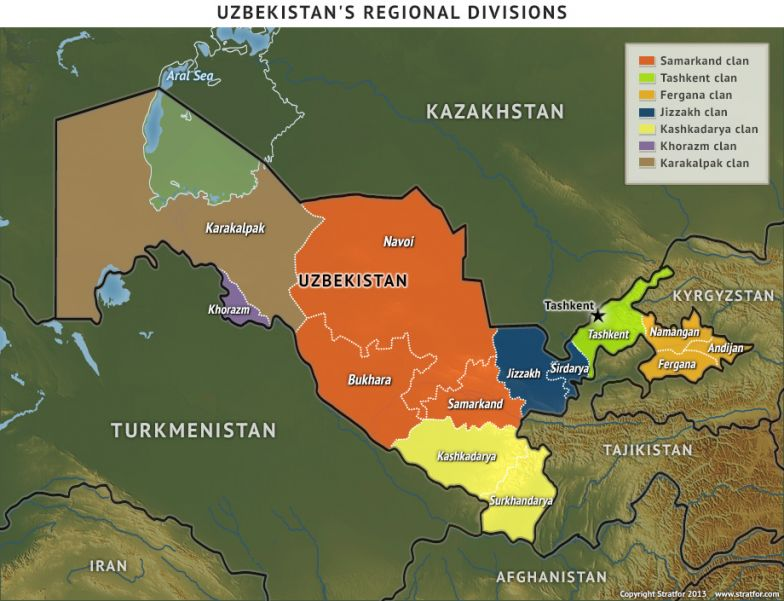 A Volatile Equilibrium Between The Clans - Uzbekistan interactive map