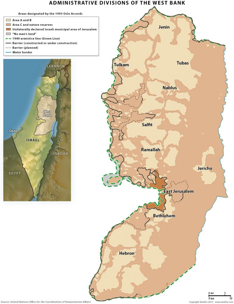 Administrative Divisions in the West Bank