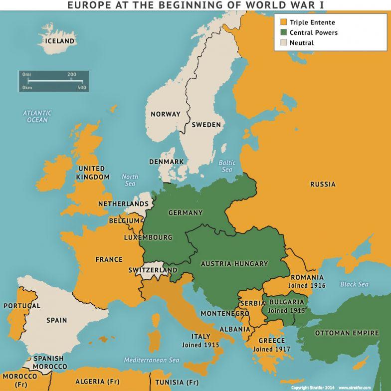 Europe at the Beginning of World War I