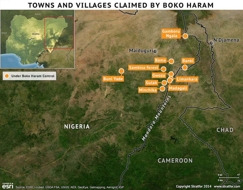 Towns and Villages Claimed by Boko Haram