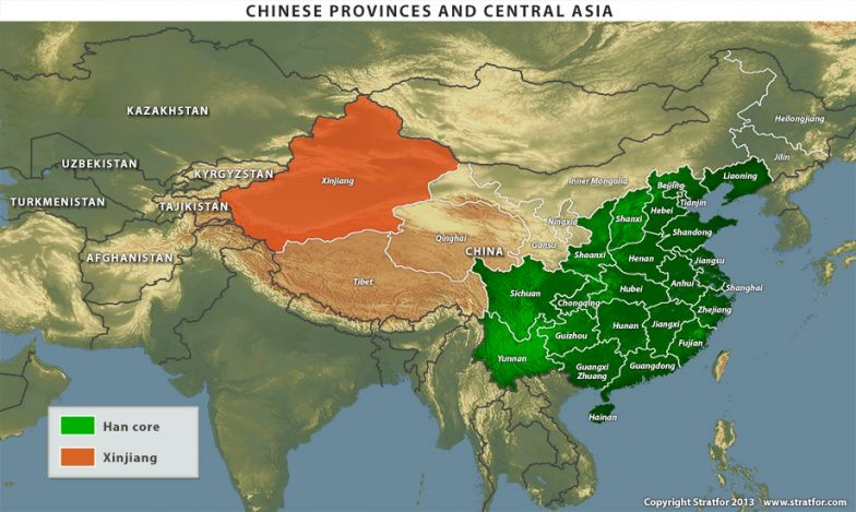 Chinese Provinces and Central Asia