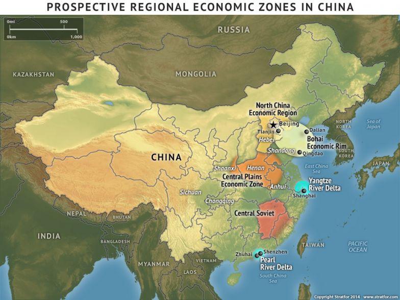 Prospective Regional Economic Zones in China