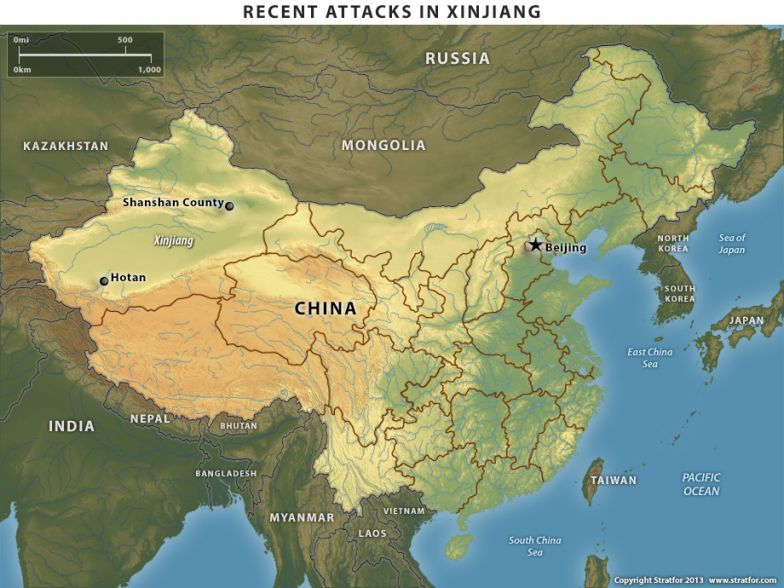 Recent Attacks in Xinjiang