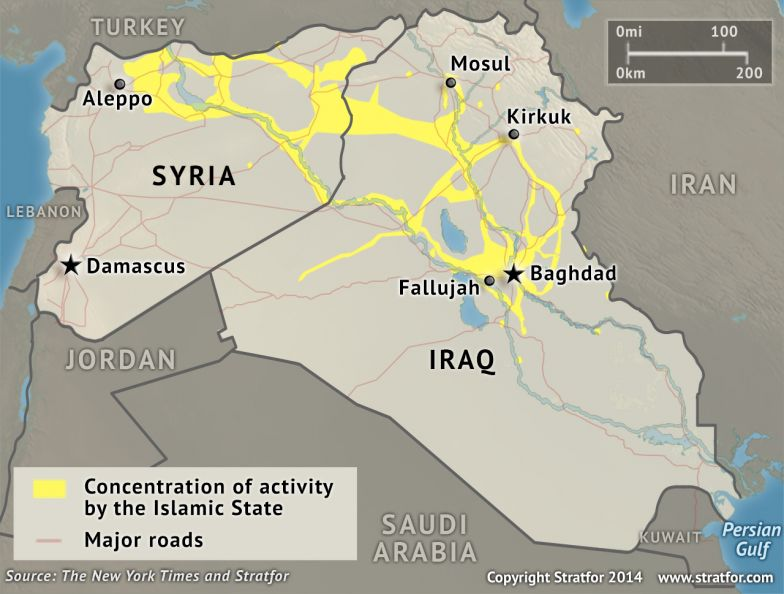 Concentration of Activity by the Islamic State
