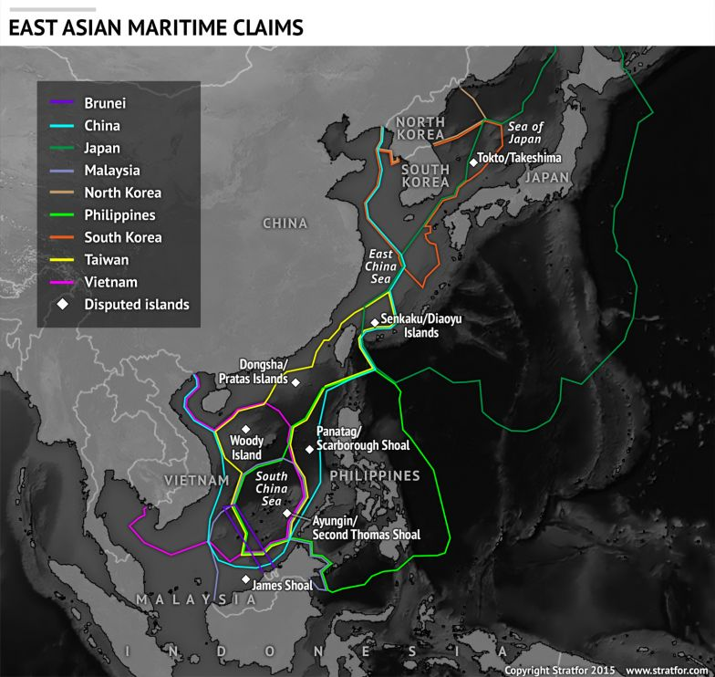 Overlapping Maritime Claims in East Asia