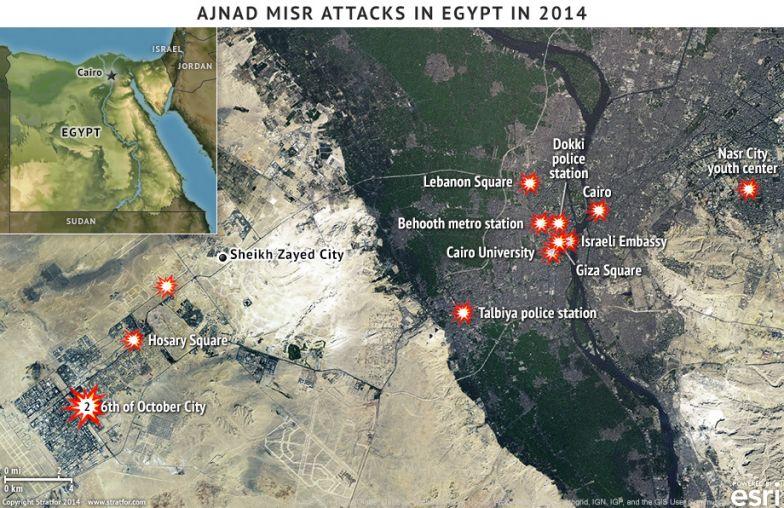 Ajnad Misr Attacks in Egypt in 2014