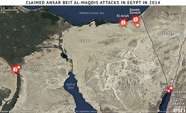 Claimed Ansar Beit al-Maqdis Attacks in Egypt in 2014