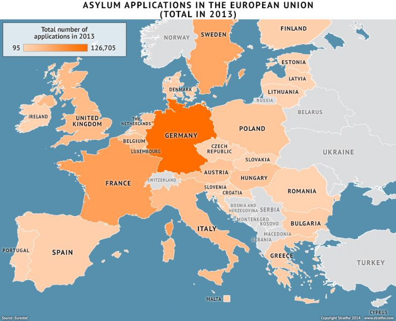 Asylum Applications in the European Union Total