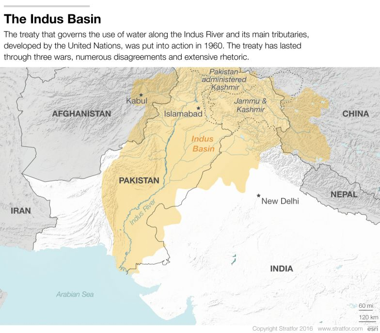 Danger Looming Over The Indus River Basin - World map indus river