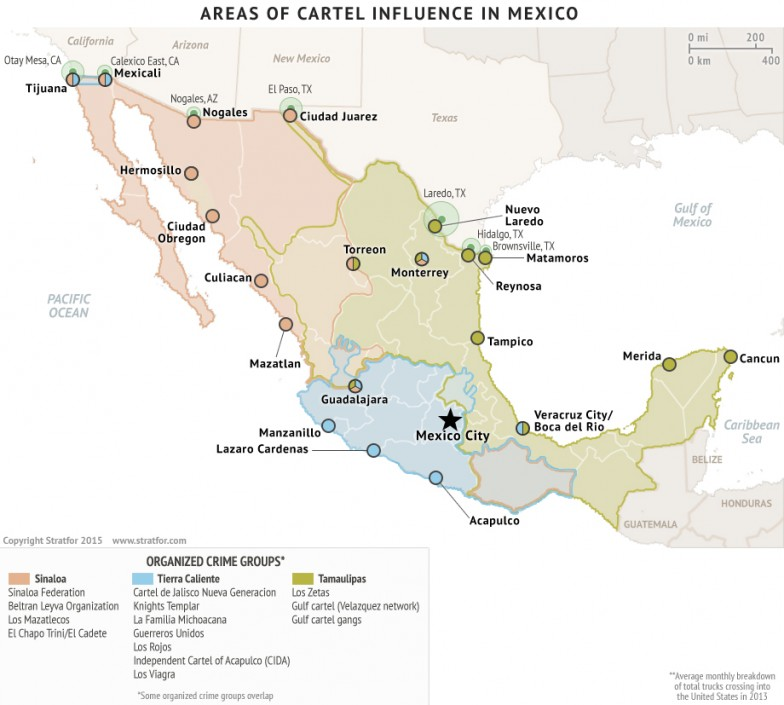 the geography of mexican drug cartels