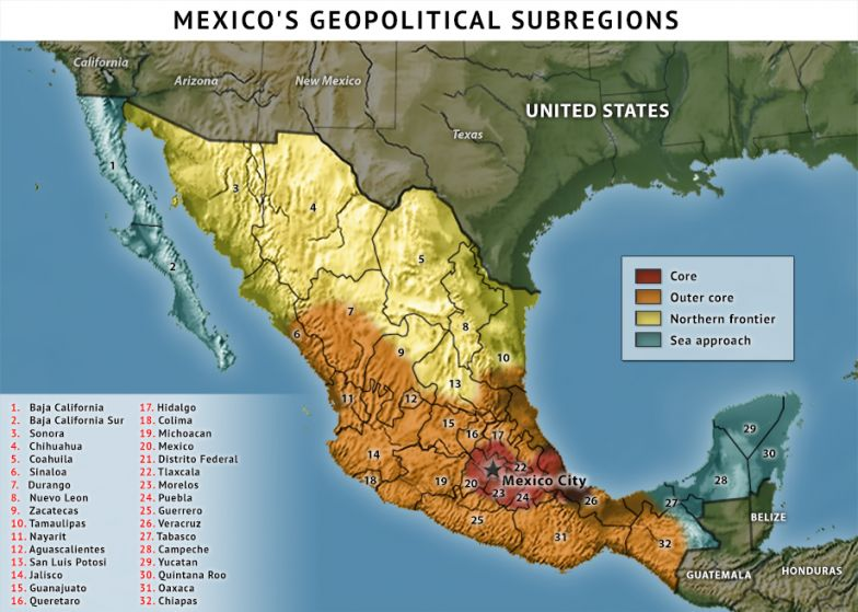 Mexico's Geopolitical Subregions