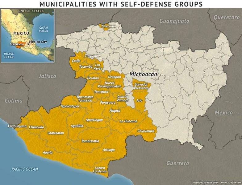 Municipalities With Self Defense Groups