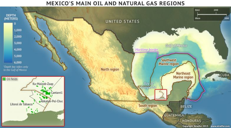 Mexico's Main Oil and Natural Gas Regions