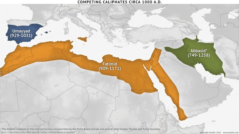 Competing Caliphates Circa 1000 A.D.