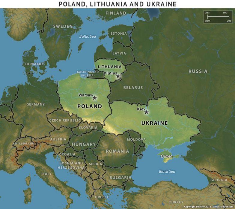 Poland, Lithuania and Ukraine