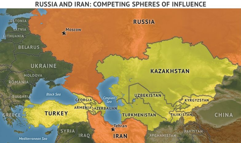 Russia and Iran: Competing Spheres of Influence