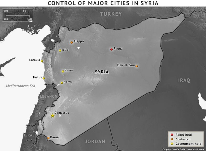 Control of Major Cities in Syria