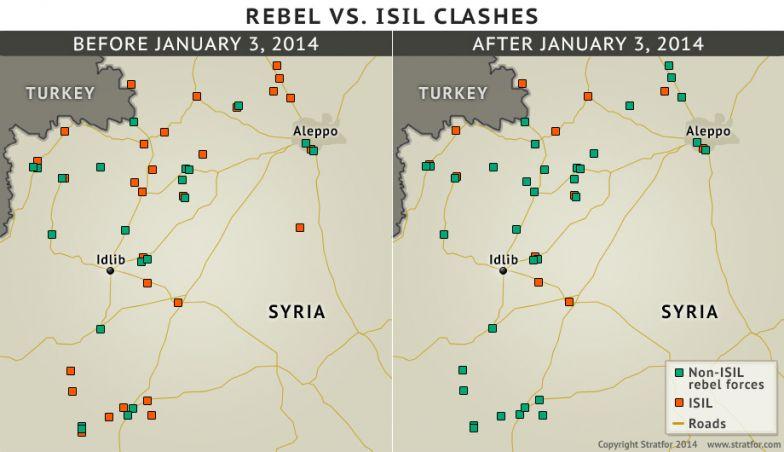 Rebel vs. ISIL Clashes