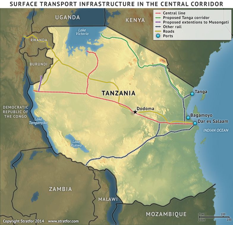 Surface Transport Infrastructure in the Central Corridor