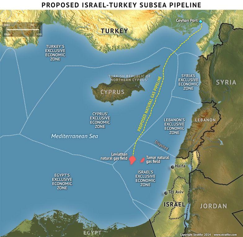 Proposed Israel-Turkey Subsea Pipeline