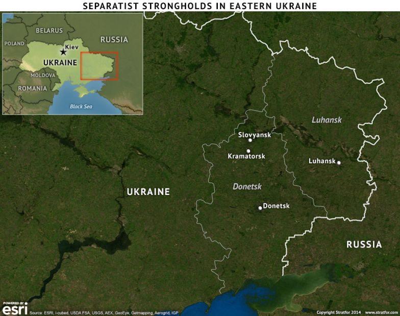 Separatist Strongholds in Eastern Ukraine