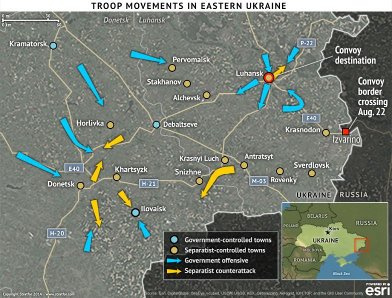 Troop Movements in Eastern Ukraine