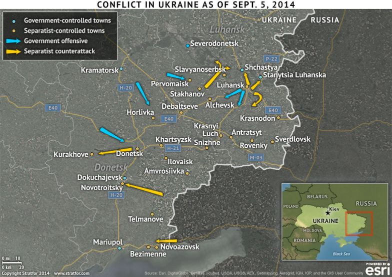 The Conflict in Ukraine as at Sept. 5, 2014