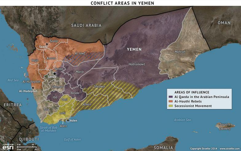Conflict Areas in Yemen
