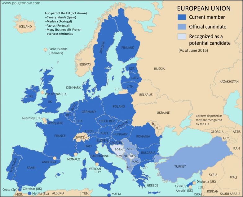 Map Which Schengen Borders Are Closed To Passport Free Travel In