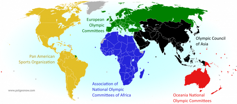 Parade of nations which countries are and arent in the olympics map of all countries in the olympics and their regional associations gumiabroncs Image collections