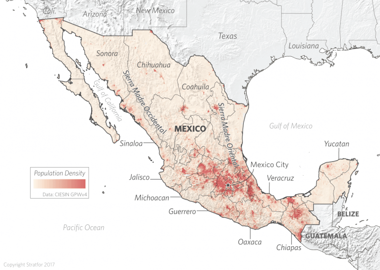 The Geopolitics Of Mexico A Mountain Fortress Besieged - Map Of Us Northern Border