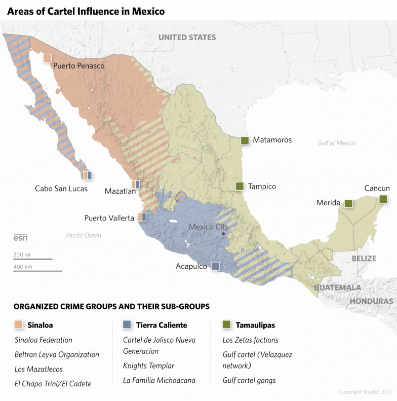 The breakdown of Mexico's drug cartels