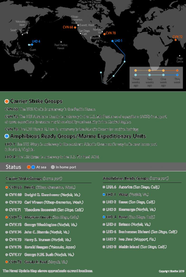 U.S. Naval Update Map: Nov. 14, 2019