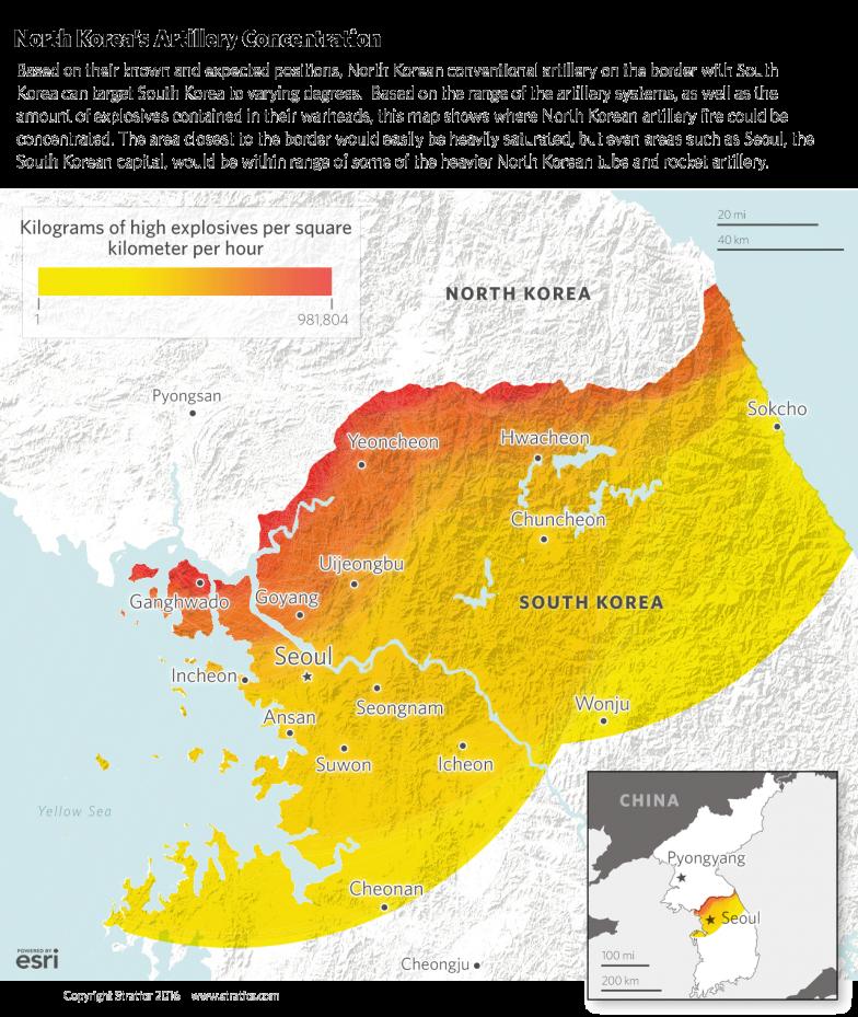 North Korea's Artillery Concentration