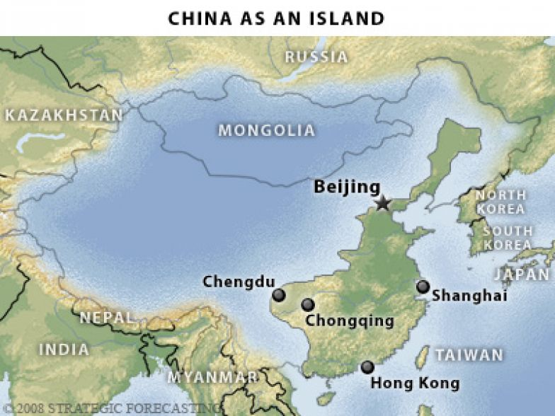 Map Of China And Surrounding Areas.The Geopolitics Of China A Great Power Enclosed