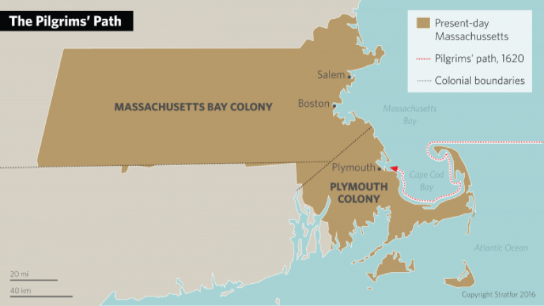 Pilgrim Settlements in New England in the 1600s