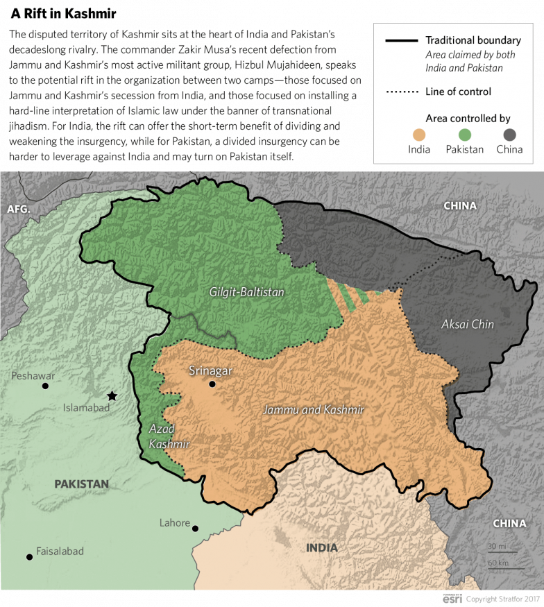 the territorial dispute between the india and pakistan regarding the kashmir Under the partition plan provided by the indian independence act, kashmir was free to accede to india or pakistan the maharaja (local ruler), hari singh, chose india and a two-year war erupted in.
