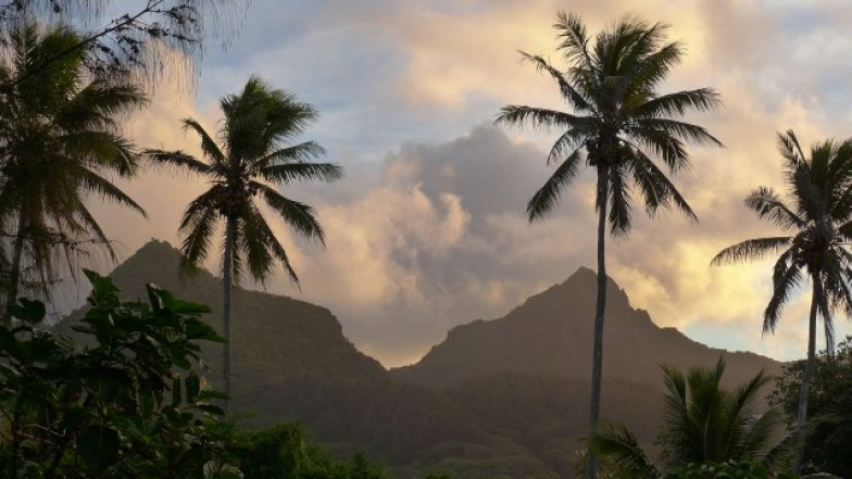 Mountains on Rarotonga in the Cook Islands