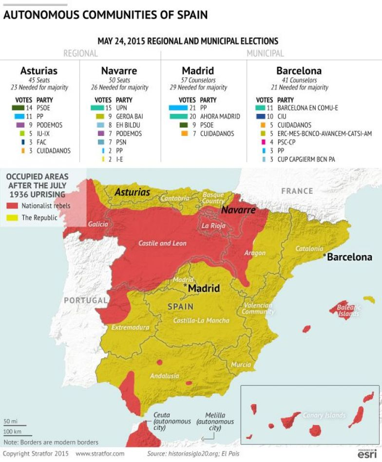 Regional Map Of Spain.The Historical Roots Of Spanish Political Division