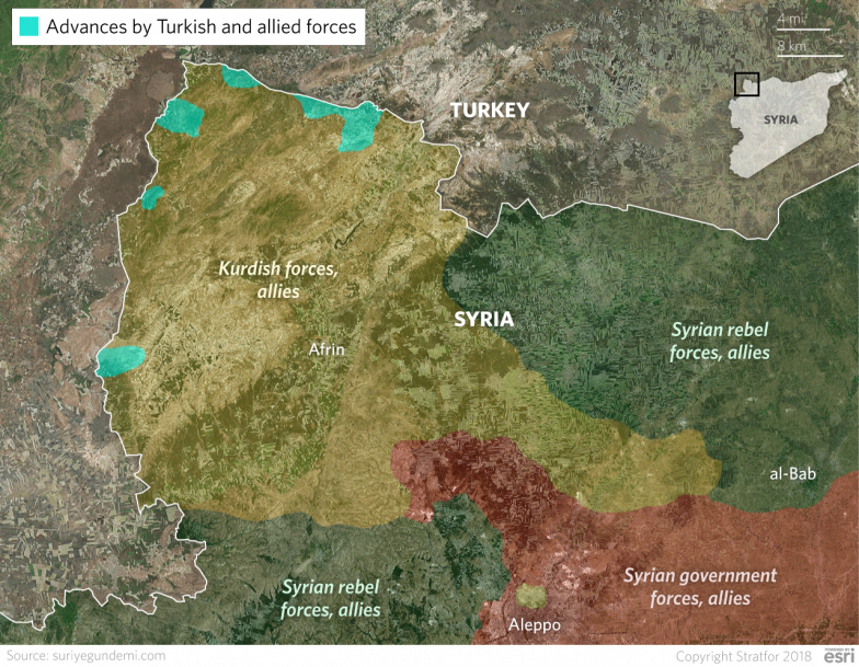 Syria Turkeys Operation Olive Branch Is Anything But Peaceful - Where is syria and turkey