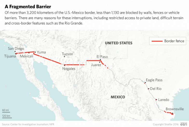 It Will Take More Than A Wall To Solve Border Crime - Mexico us border wall map