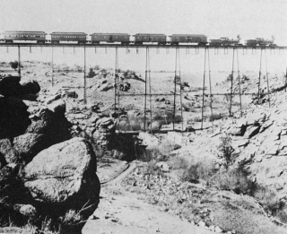 A U.S. railroad in the 1860s. It transformed North America's land-based supply chain.