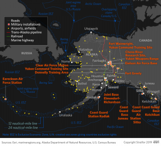 Arctic Alaska Map with U.S. Military Bases