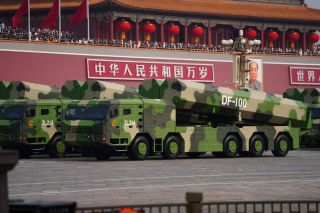 Cruise missiles like the DF-100 also made their public debut.