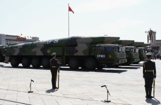 """The DF-26, nicknamed the """"Guam killer"""" has been seen before at Chinese military parades."""