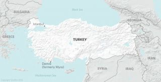 Map of Demre, Turley