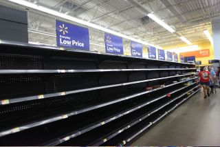 Supplies flew off the shelves on Aug. 24 as people prepared for the arrival of Hurricane Harvey.